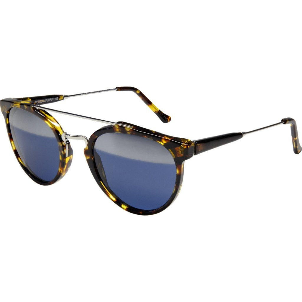 RetroSuperFuture Giaguaro Sunglasses | Yellow Tortoise Silver 783