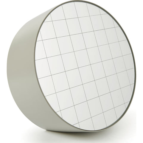 Atipico Centimetri 33 Wall Mirror | Silk Gray/White 7877