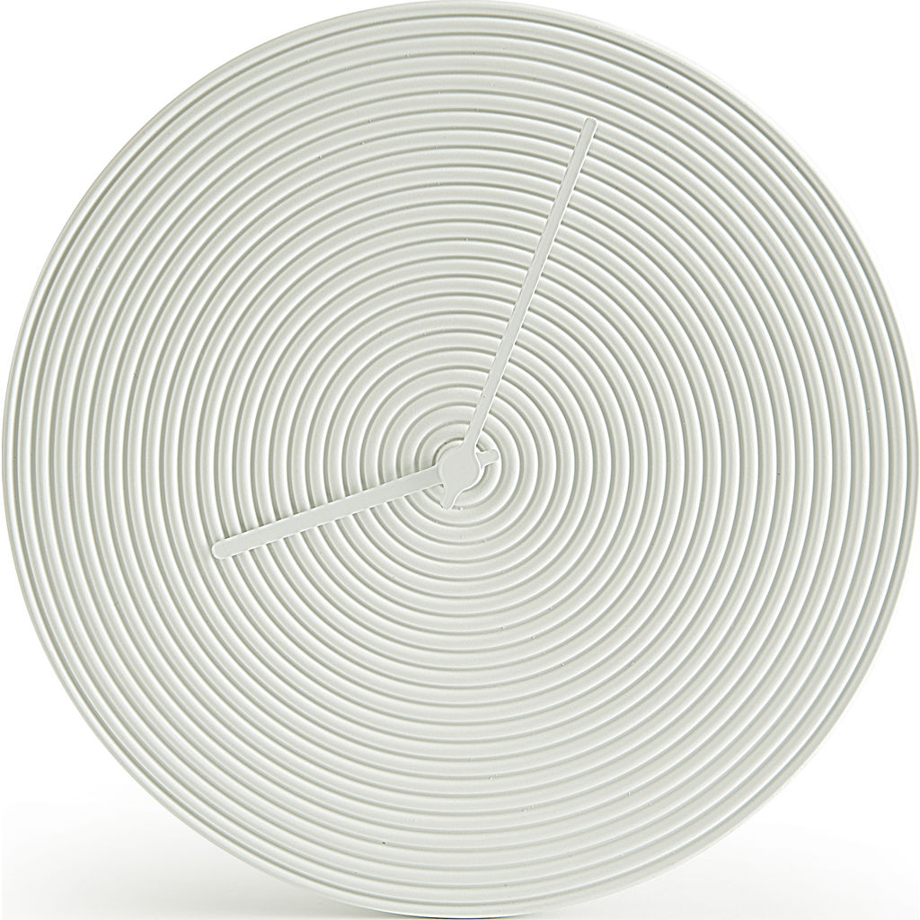 Atipico Ring Ceramic Wall Clock | Signal White 7900