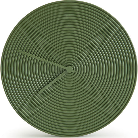 Atipico Ring Ceramic Wall Clock | Olive Green 7902