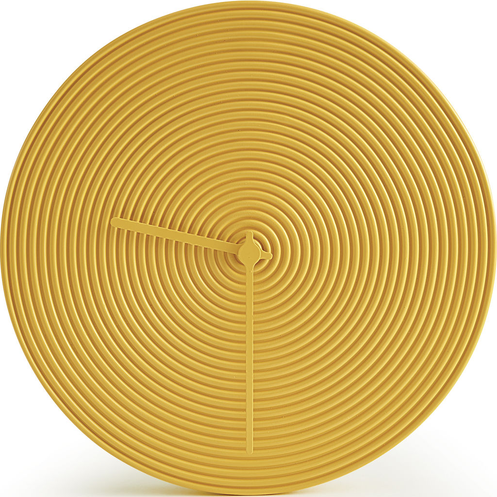 Atipico Ring Ceramic Wall Clock | Honey Yellow 7903
