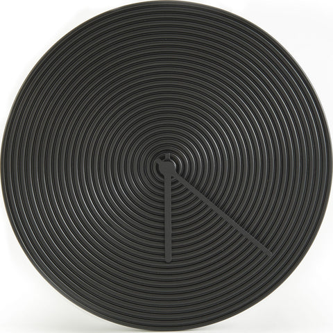 Atipico Ring Ceramic Wall Clock | Jet Black 7905