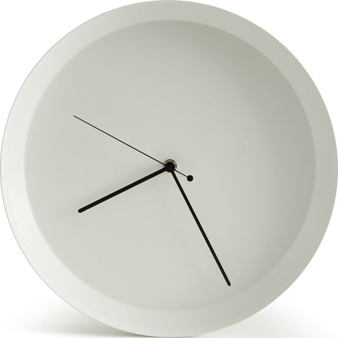 Atipico Dish Iron Wall Clock | Signal White 7910