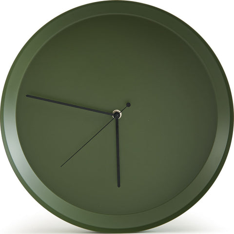 Atipico Dish Iron Wall Clock | Olive Green 7912