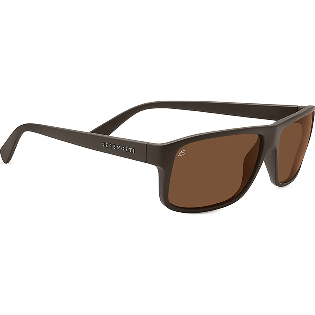 Serengeti Claudio Sanded Dark Brown Photochromic Sunglasses | Polarized Drivers 7952