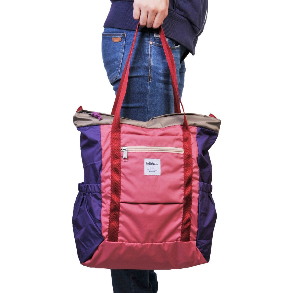 Hellolulu Macon Packable 19L Tote Bag | Pink HLL 80014 PNK ...