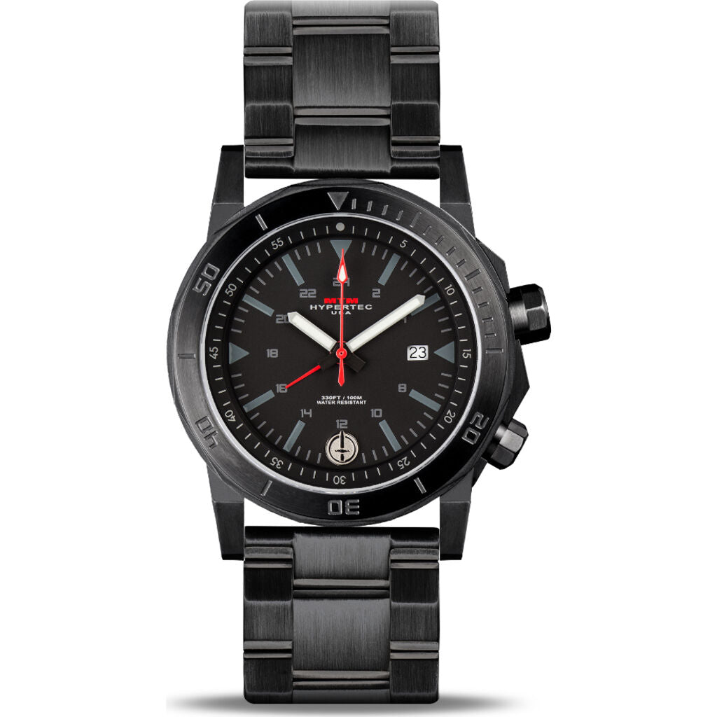 MTM Special Ops H-61 Watch | Black/Black/Steel Band