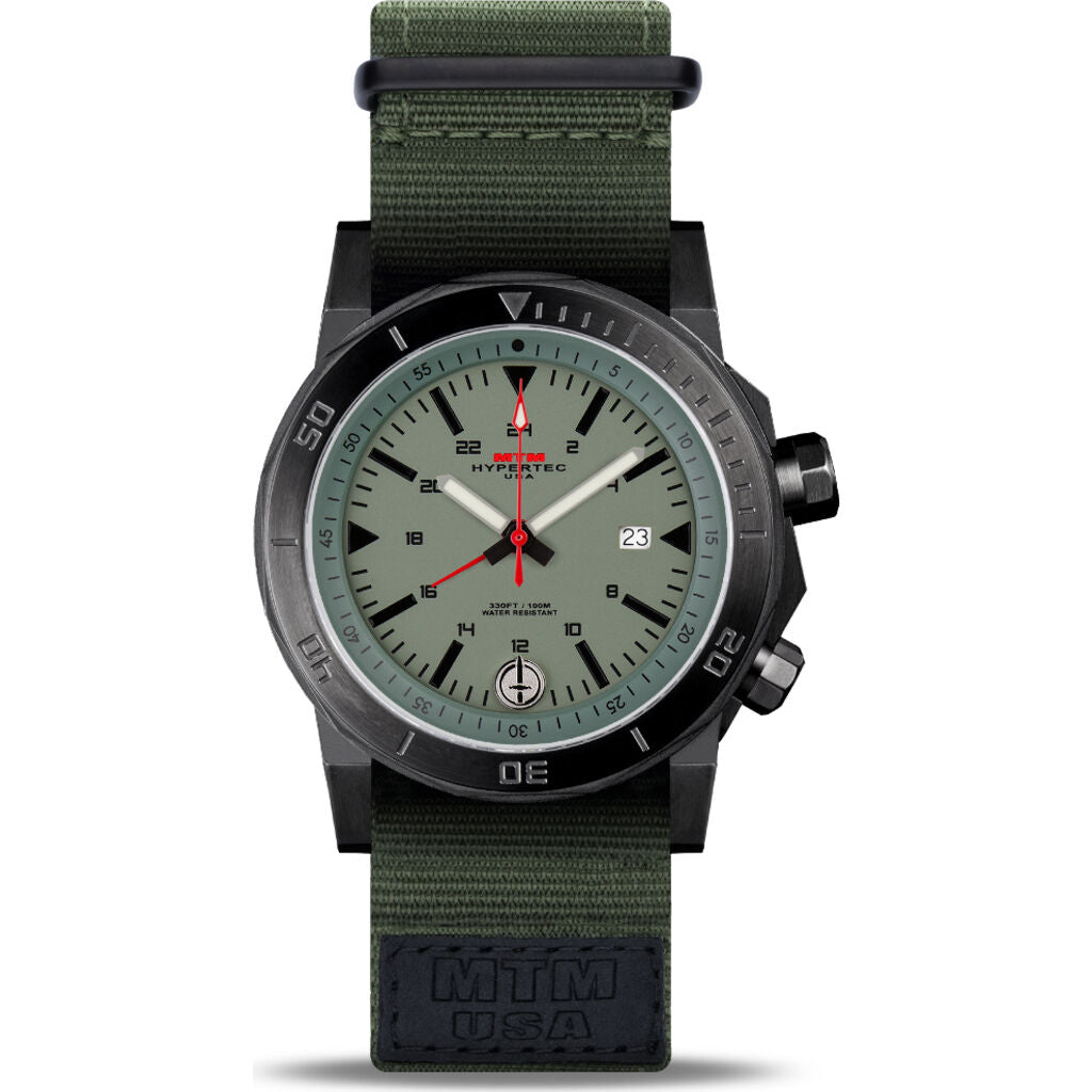 MTM Special Ops H-61 Watch | Black/Green/Nato Green