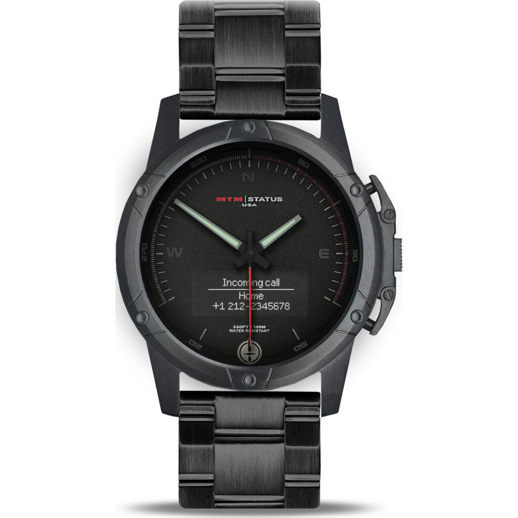 MTM Special Ops Status Watch | Black/Black II/Steel Band