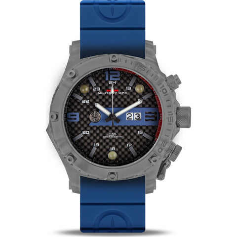 MTM Special Ops Vulture Watch | Grey/Blue/Blue Rubber II