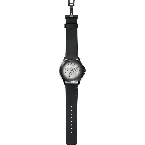 MTM Special Ops 42 Oconus Watch | Black/Silver I/Leather Black