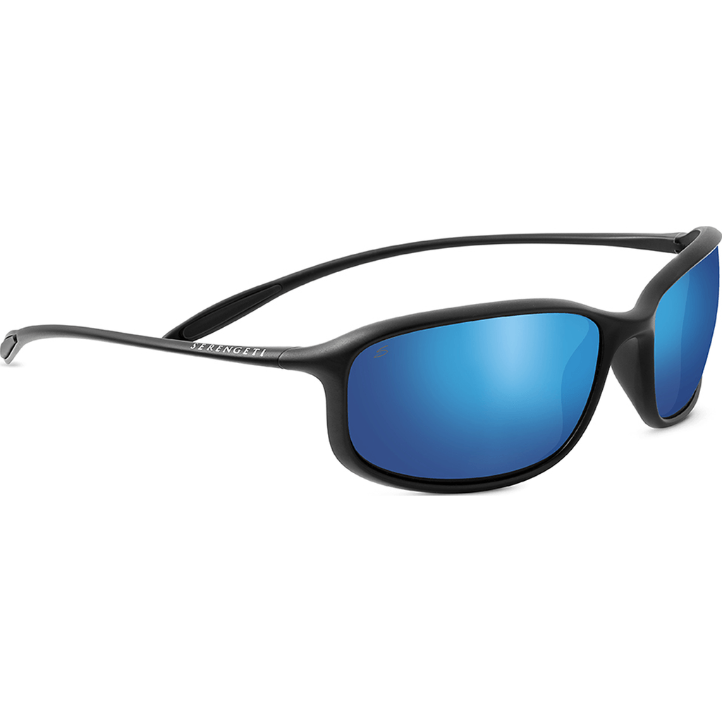Serengeti Sestriere Satin Black Photochromic Sunglasses | Polar PhD 555nm Blue 8110