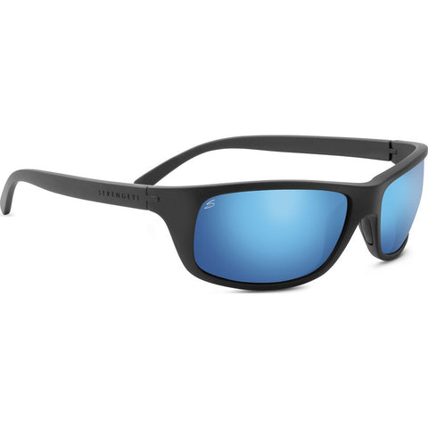 Serengeti Bormio Satin Black Photochromic Sunglasses | Polar PhD 555nm Blue 8165