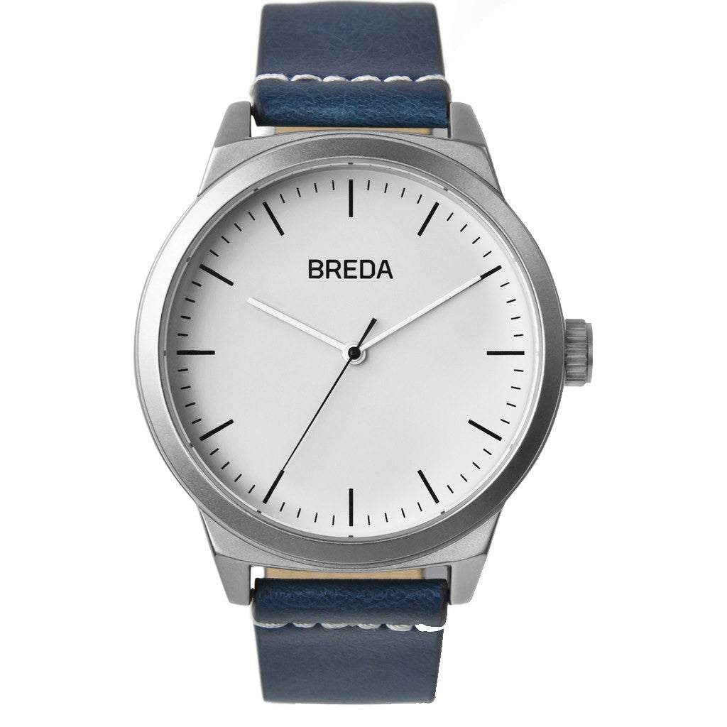 Breda Watches Rand Watch | Silver/Navy 8184g