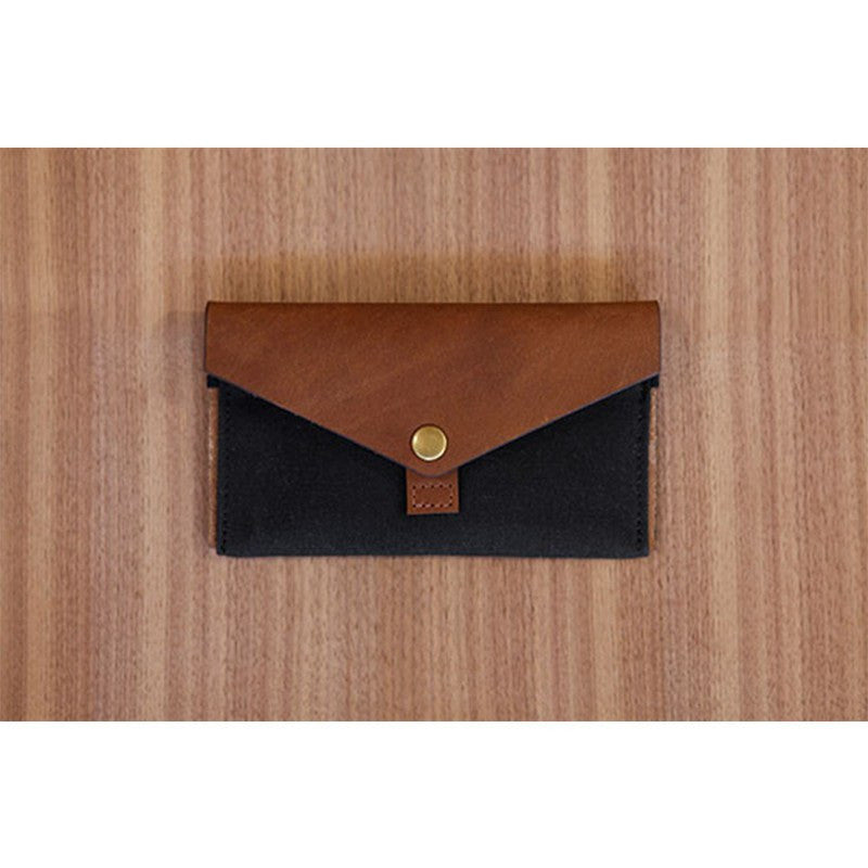 DODOcase Leather & Canvas Phone Clutch | Black