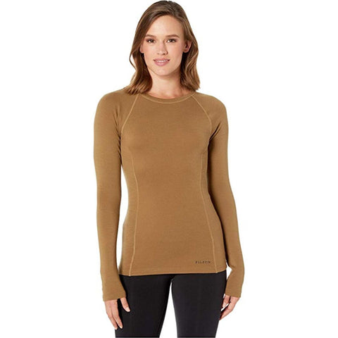 Filson Women's 280g Merino Long Sleeve Crew | Rugged Tan