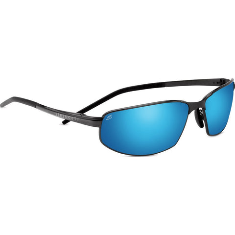 Serengeti Granada Satin Black Photochromic Sunglasses | Polarized 555nm Blue 8260