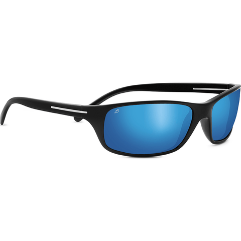 Serengeti Pisa Shiny Black Photochromic Sunglasses | Polarized 555nm Blue 8272