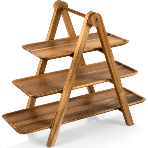 Picnic Time Toscana Serving Ladder - 3 Tiered Serving Station
