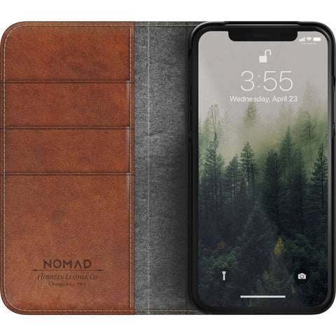Nomad Folio Case for iPhone X | Horween Brown Leather