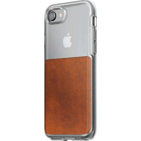 Nomad Clear Case iPhone 7/8 | Clear/Horween Brown Leather