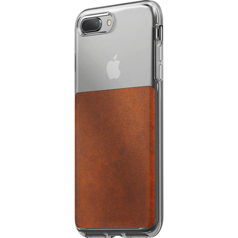 Nomad Case for iPhone 7/8 Plus | Clear/Horween Brown Leather
