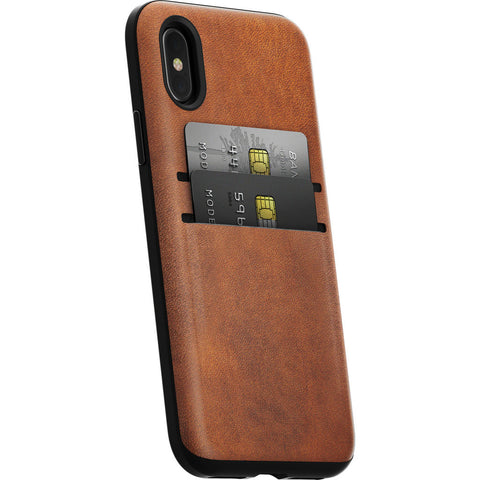 Nomad Card Case for iPhone X | Horween Brown Leather
