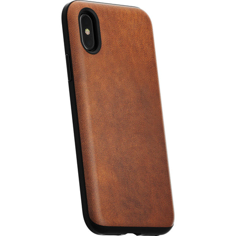 Nomad Rugged Case for iPhone X | Horween Brown Leather