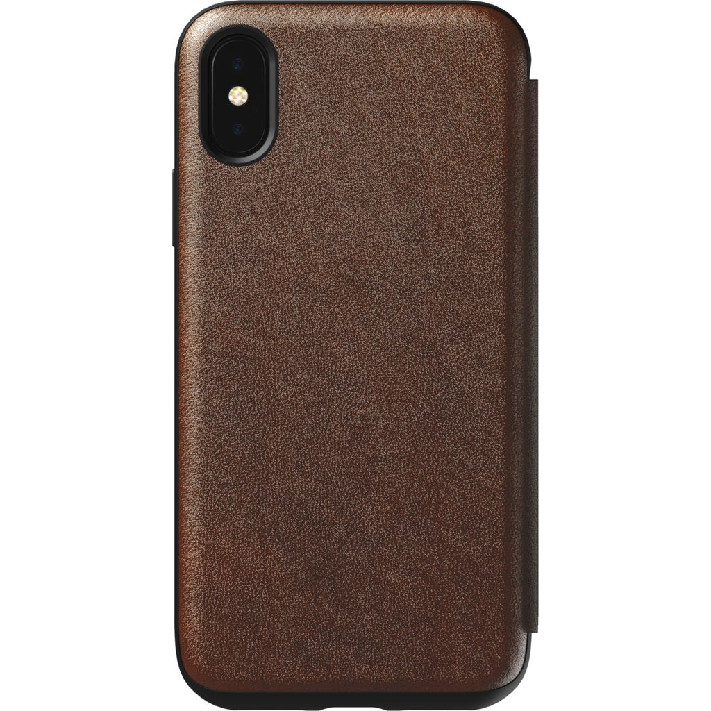 Hello Nomad Folio Leather Case for iPhone X | Rustic Brown NM21FROHOO