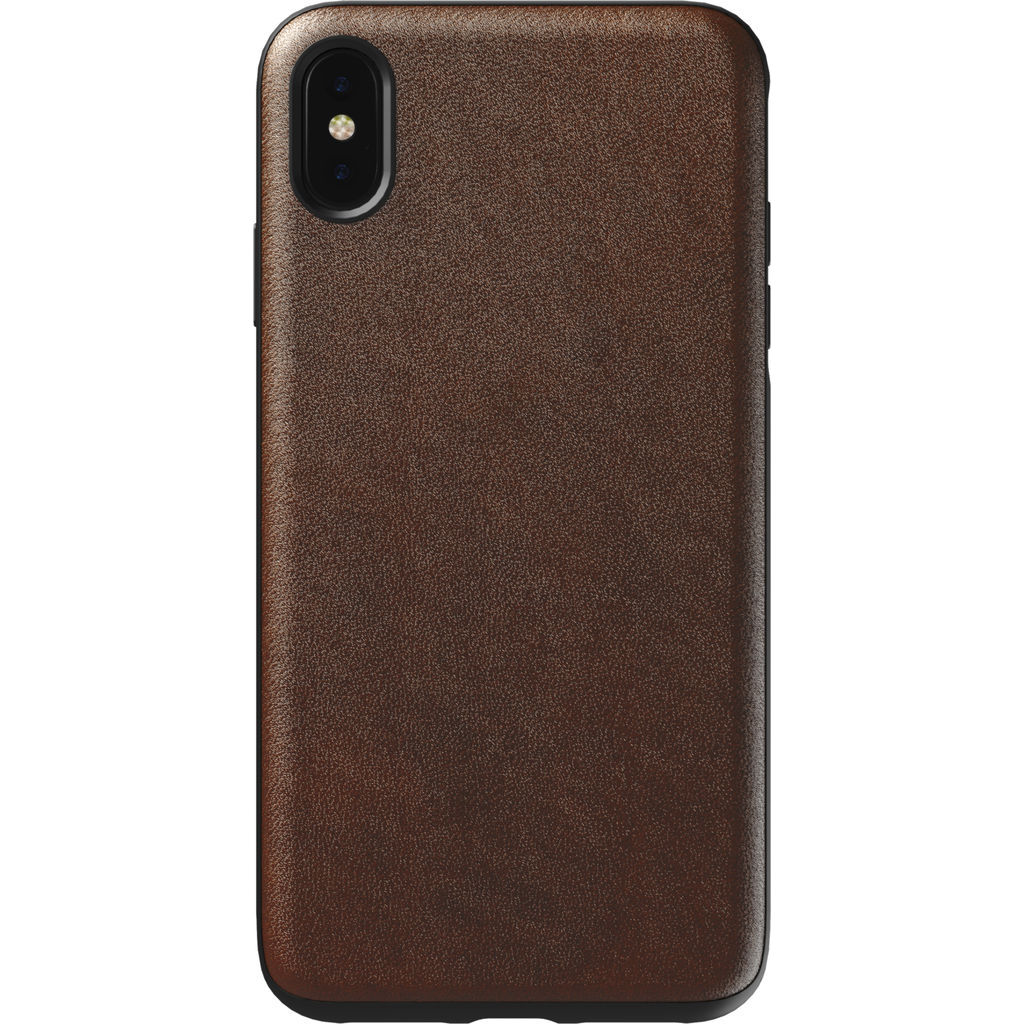 Hello Nomad Rugged Leather Case for iPhone XS Max | Rustic Brown Leather NM21TR0000
