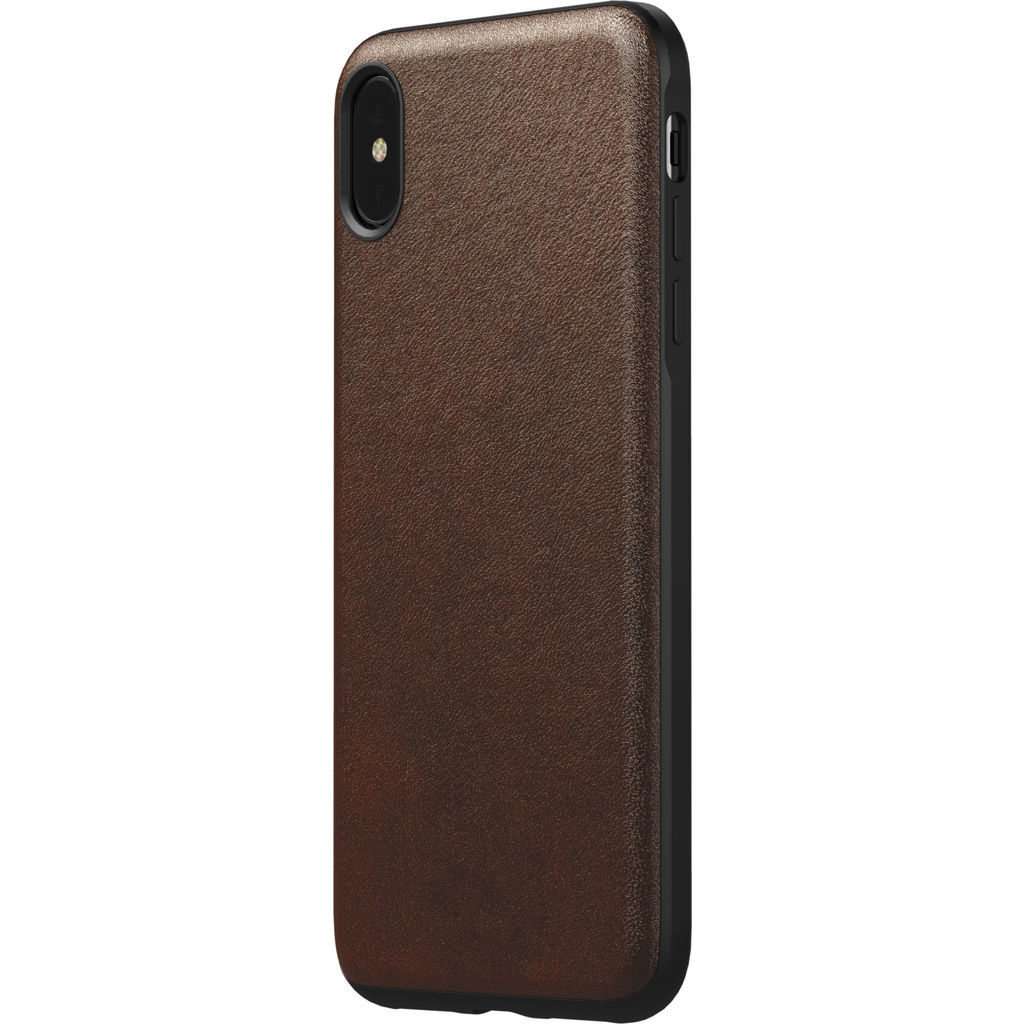timeless design 7fdb6 0b79f Nomad Rugged Leather Case for iPhone XS Max | Rustic Brown