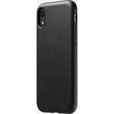 Nomad Rugged Leather iPhone XR Case| Black- NM21Q10000