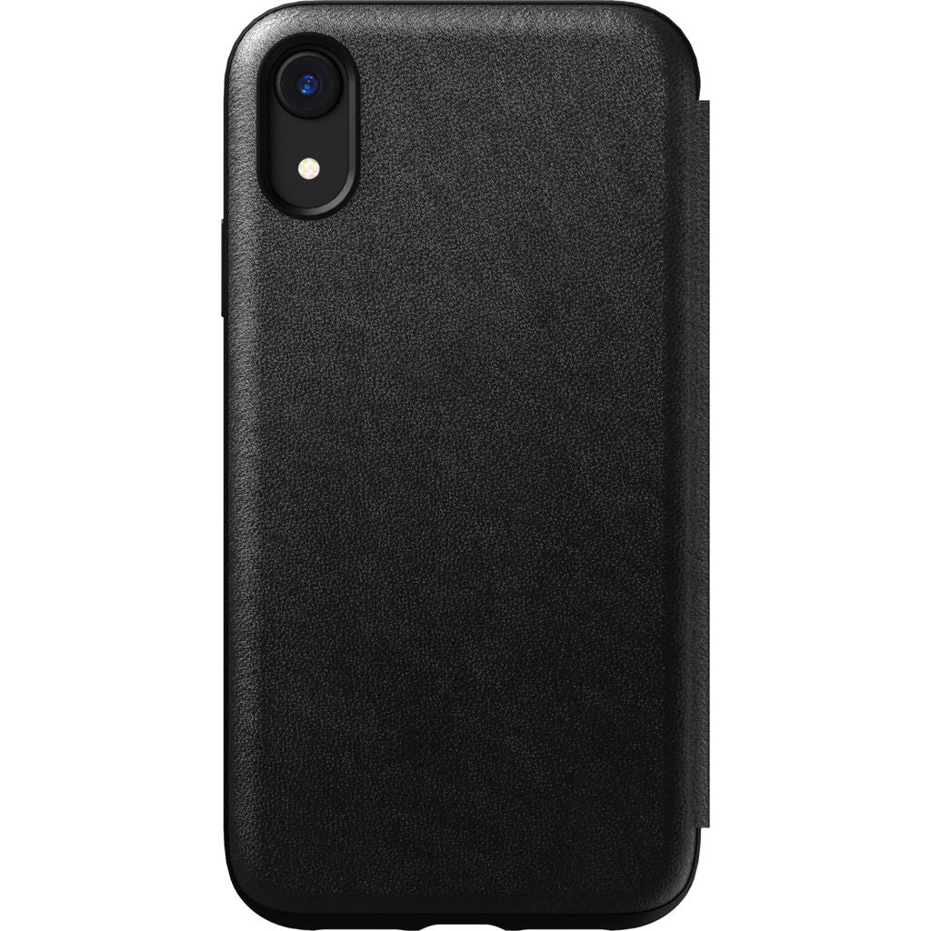 on sale fb539 cedc1 Nomad Folio Leather Case for iPhone XR | Black Rugged