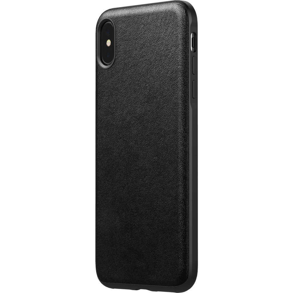 Hello Nomad Rugged Leather Case for iPhone XS Max | Black Leather NM21T10R00