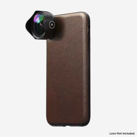 Nomad Rugged Leather iPhone X/XS Case for Moment Lens-Rustic Brown