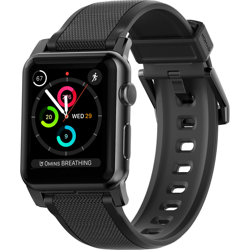 Nomad Silicone Strap for Apple Watch | Black Hardware