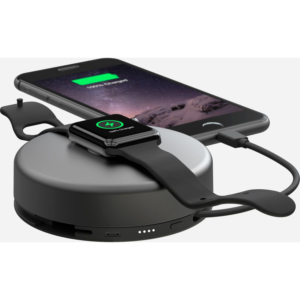 Hello Nomad Pod Pro Portable Battery for Apple Watch + iPhone | Space Gray PODPRO-APPLE-SG