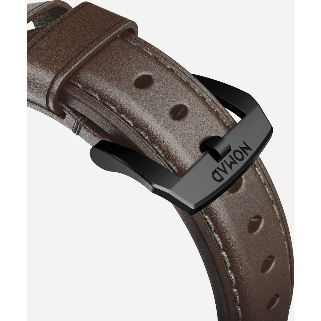 Nomad Traditional Apple Watch Strap | Black Hardware / Brown Leather