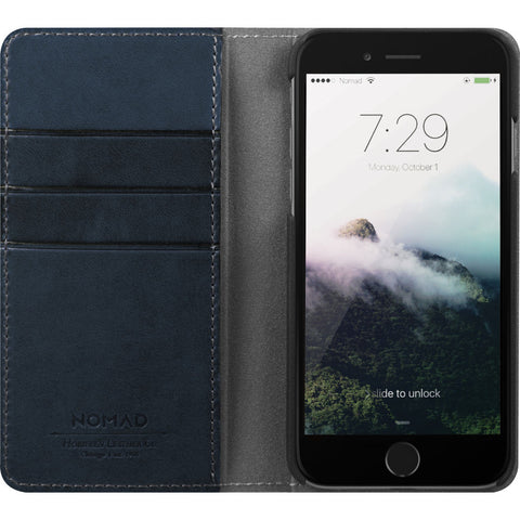 Nomad Folio Case for iPhone 7/8 Plus | Midnight Blue Horween Leather