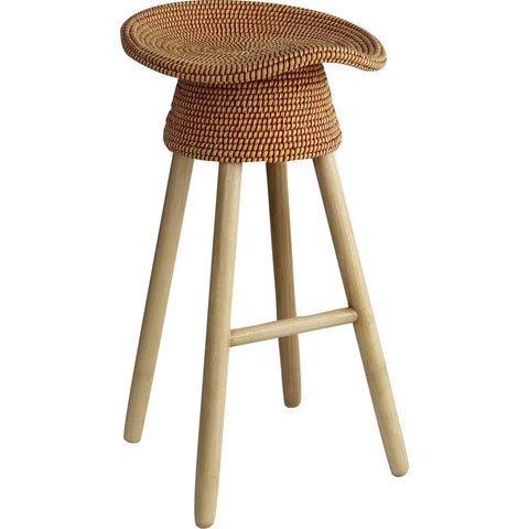 Umbra Shift Coiled Counter Stool | Red 880242 505 ...