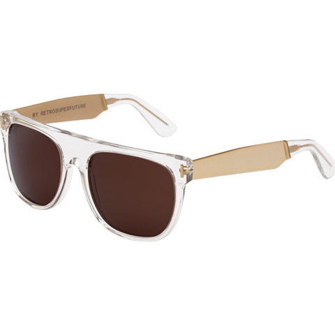RetroSuperFuture Flat Top Sunglasses | Francis Crystal Gold 893