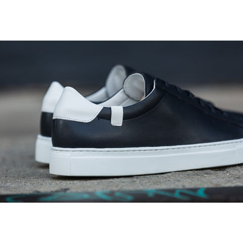 House of Future Original Low Top Micro-Leather Shoes USM 13 / EUR 46 | Navy/White 1044C1023USM130