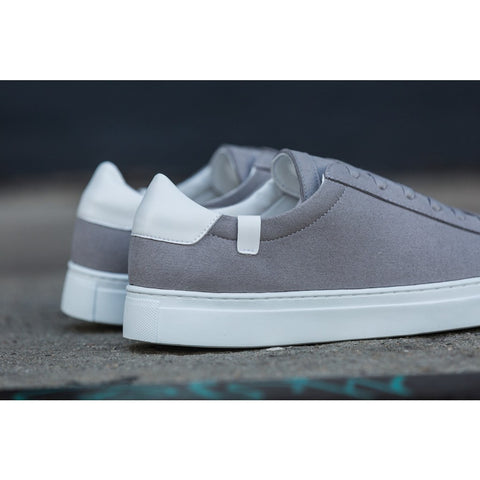 House of Future Original Low Top Micro-Suede Shoes USM 13 / EUR 46 | Light Grey/White 1014C1025USM130