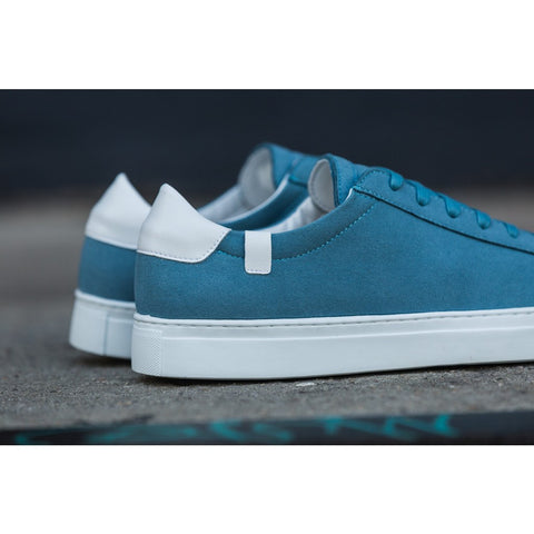 House of Future Original Low Top Micro-Suede Shoes USM 13 / EUR 46 | Lint Blue/White 1014C1026USM130