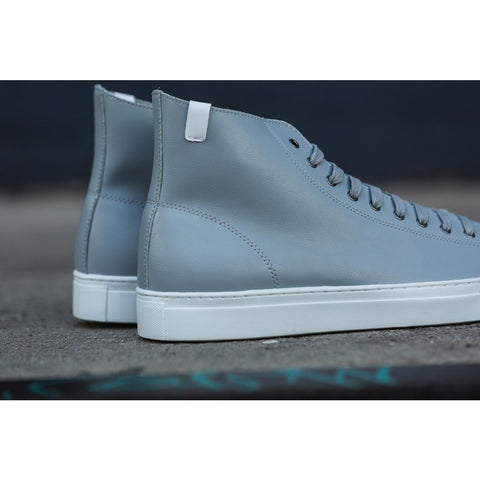 House of Future Original Hi Top Micro-Leather Shoes USM 13 / EUR 46 | Light Grey 1045C1011USM130