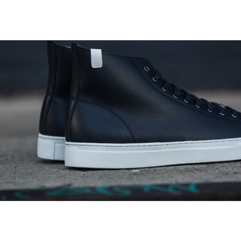 House of Future Original Hi Top Micro-Leather Shoes | Navy