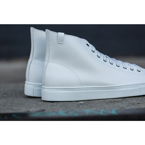 House of Future Original Hi Top Micro-Leather Shoes USM 13 / EUR 46 | White 1045C1007USM130