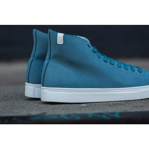 House of Future Original Hi Top Micro-Suede Shoes USM 13 / EUR 46 | Lint Blue 1015C1015USM130