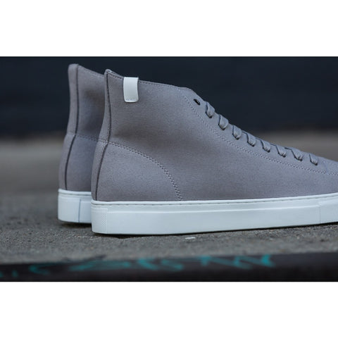 House of Future Original Hi Top Micro-Suede Shoes USM 13 / EUR 46 | Light Grey 1015C1014USM130