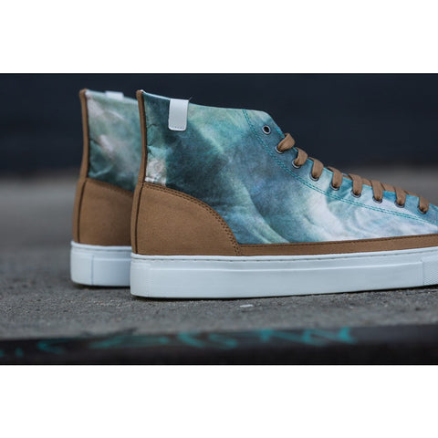House of Future Original Hi Top Micro-Suede/ Tyvek Shoes USM 13 / EUR 46 | Sand Dune 1009C1016USM130